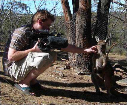 Brady Haran and kangaroo